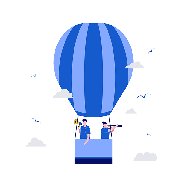 air balloon with two people