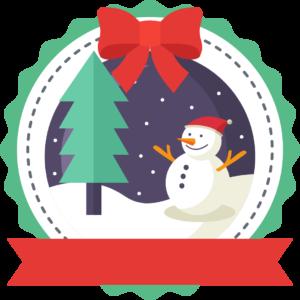 Aribo Christmas badge